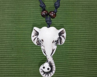 White Elephant Necklace - White Elephant Pendant