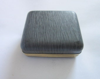 1950's Retro Gold Tone Banded Ring Jewelry Box