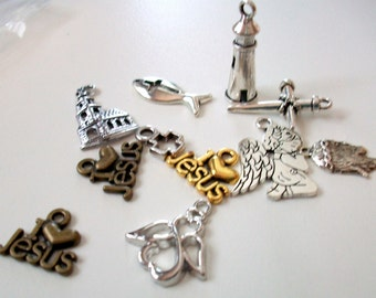Assorted Christian Charms