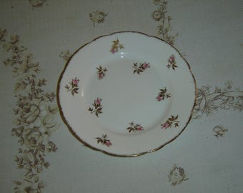 Royal Stafford pink Rosebud gold leaves bread and butter plate VGU