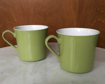 Avocado Green Coffee Cups