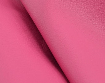 "Imperial Posh Pink ""Signature""  Leather Cow Hide 8"" x 10"" Pre-Cut  2 1/2-3 oz flat grain DE-52179 (Sec. 8,Shelf 3,C)"