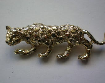 Gerry's Signed Leopard or Panther Cat Pin - 5183