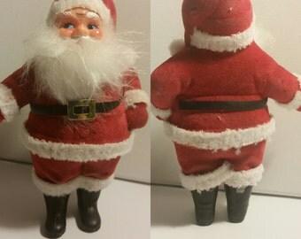 "Jolly Flocked Santa 7"" Hong Kong Sticker"