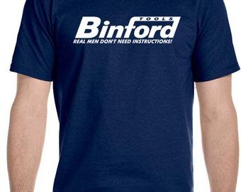 Binford Tools T Shirt Funny Home Improvement Tool Time Hammer Tee Tim Taylor TV