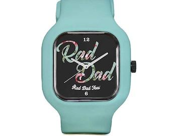 Black Floral RAD DAD Sport Watch, wristwatch, father's day, for dad, dads