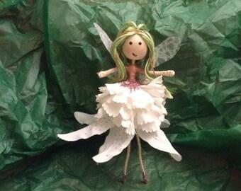 """Handmade Fairy- """"Spring Fairy with green hair"""""""