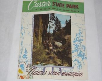 Vintage Custer State Park brochure Black Hills South Dakota