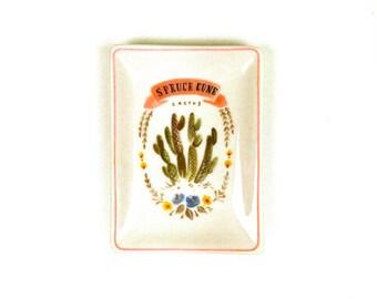 Spruce Cone Cactus Plate, Cactus Plate, Cactus Tray, Cactus Mini Plate, Cactus Home Decor