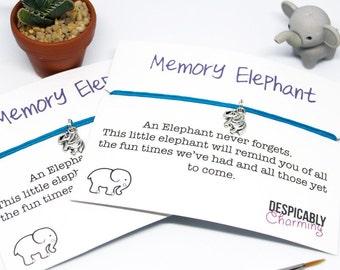 Set of 2 Elephant Friendship Bracelet - Elephant bracelet bridesmaid Gift - Cute bracelet - Elephant cord bracelet pair - elephant Jewellery