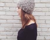 Dark Grey Texture Knit 100% wool hat