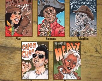 Fallout Character Sketch Cards