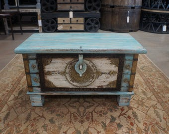 Solid Wood Hand Made Chest With Brass Details