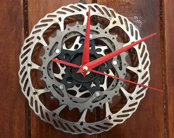 Clock from Recycled Bike Parts