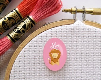 Magnetic Zodiac (Leo) Needle Minder for Cross Stitch, Embroidery, & Needlecrafts (18mmx25mm with Strong Magnet)