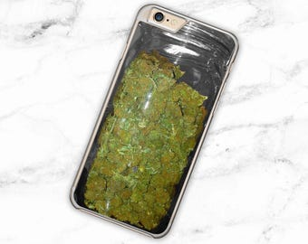 Weed Jar iPhone Case Realistic Cannabis iPhone 6 Case Dope iPhone 7 Cover Weed Samsung Galaxy S6 Case Cannabis S7 Case Weed iPhone 5 se case