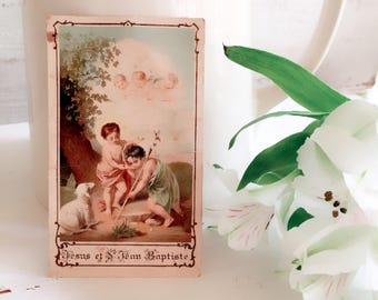 Beautiful Antique Prayer Card