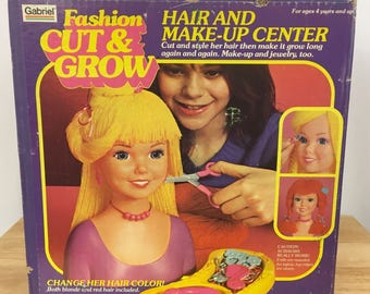 Vintage 1981 Gabriel Fashion Cut and Grown Toy Hair and Make-Up Center in Box New Blonde Red Hair Made in USA