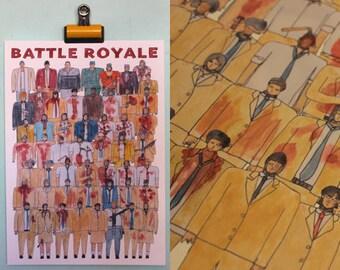 Battle Royale Team Illustration