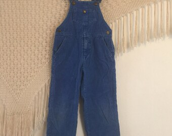 Vintage Hush Puppies size 4T corduroy overalls, bohemian toddler overalls, folkie overalls, toddler jumper, playsuit, toddler corduroys,