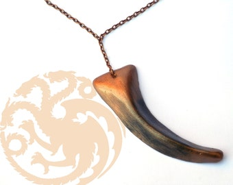 Daenerys Targaryen Single Dragon Claw Necklace,Khaleesi cosplay necklace