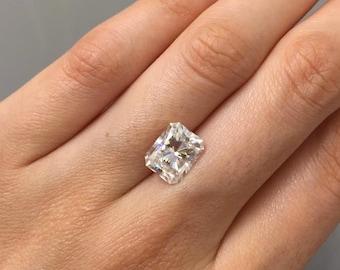 Loose SUPERNOVA Moissanite Radiant Cut| Diamond Alternative| Ethical Diamond