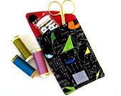 Fabric small phone case.  Travel pouch.  MP3 holder. Multipurpose holder for tissues manicure set sewing kit notebook tea bags.