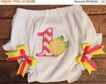 Lemon 1st Birthday Diaper Cover