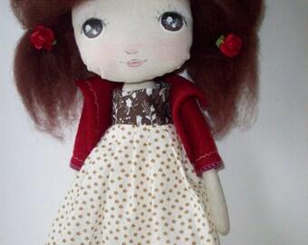 cloth doll, nursery decor, girl gift
