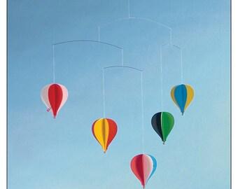 Danish FLENSTED Hot Air 5 Balloon Mobile