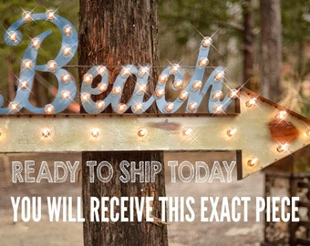 Beach Marquee Sign, Lighted Metal MARQUEE SIGN, Marquee Light Fixture, Nautical Marquee, Beach Marquee, Marquee letter: Beach Arrow Marquee