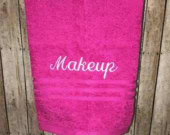 Makeup Towels-Personalized Bath Towels-Momogram Towels-Housewarming Gift-Gift For Her-Towels-Embroidered Towels-Custom Hand Towels-