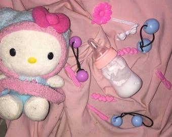 90's Babe 'Bottle Blonde' Milk Baby Bottle Hair Knocker Barrettes DDLG MDLG little crybaby melanie Martinez