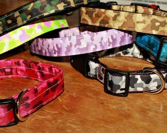1 inch wide  CAMO Plastic Buckle Collars