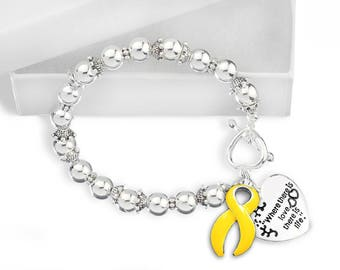 Gold Ribbon Bracelet - Where There Is Love (RE-B-01-11)