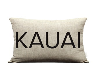 ON SALE! 12x20in Wailea / Kauai Natural Burlap Style Linen Lumbar Pillow Cover