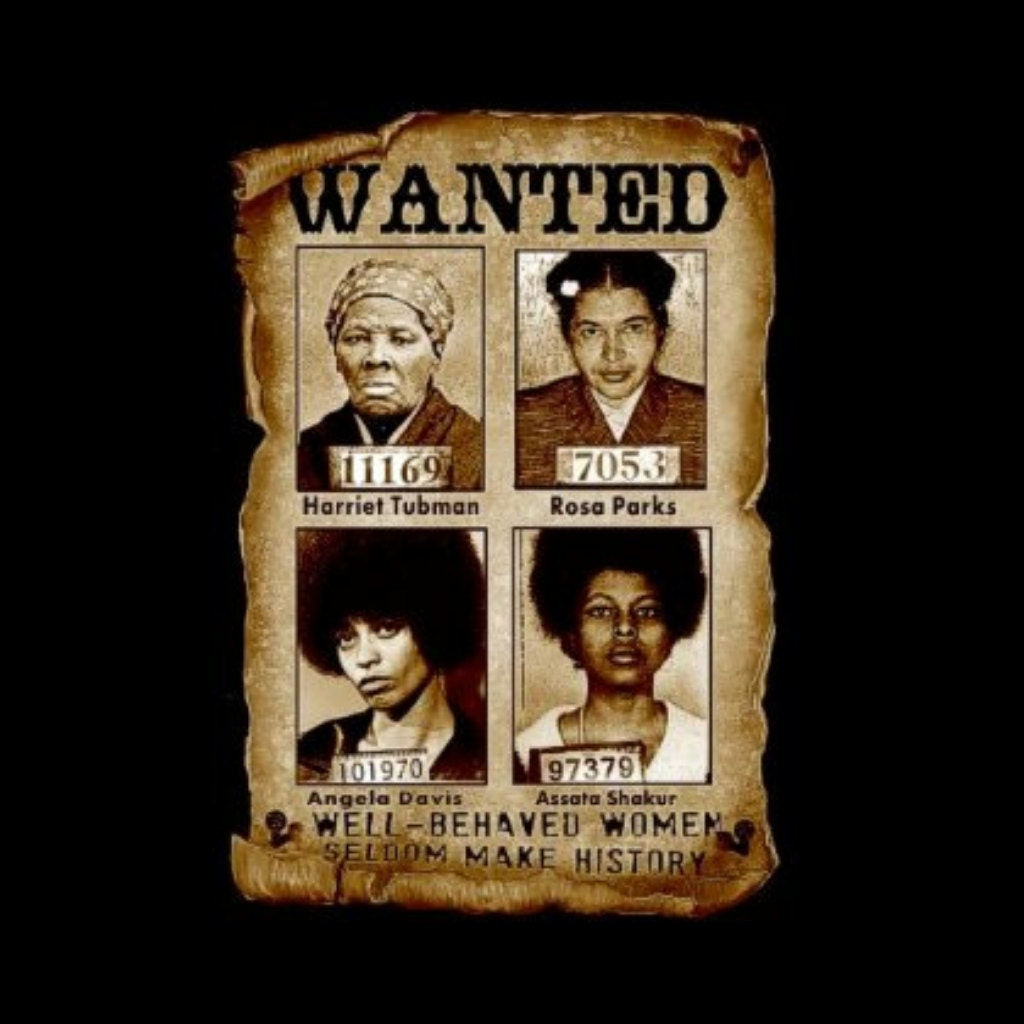 womens wanted brown fitted t shirt harriet tubman tshirt 128270zoom