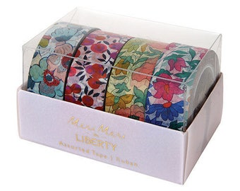 Liberty of London Floral Washi Tape -Set of 4 / Floral tape / Floral Party Decor / Washi Tape / Adhesive Tape / Meri Meri Liberty -Liberty