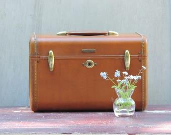 Vintage Samsonite Train Case Samsonite Shwayder Bros. Inc. Train Case Carry On Luggage Cosmetic Case Overnight Bag