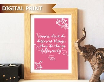 Inspirational Quote Print - Downloadable, Digital Print, Life Quotes, Typographic Print Wall Art, Home Decor, Ethnic, Indian, Henna Inspired