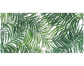 Jungle leafs print fabric extra wide; green jungle leafs fabric 110 inches wide; tropical leafs print