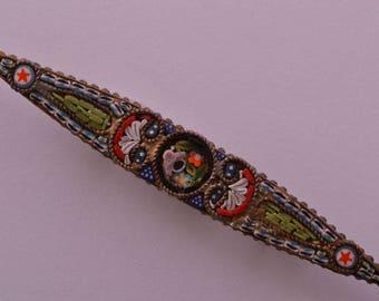 Vintage Italian Brooch With Mosaic (319n)