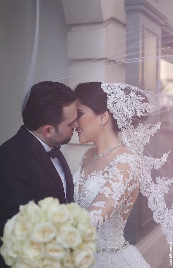 Drop Veil, Lace Wedding Veil, Veil, Lace Veil, Mantilla Veil, Wedding Veil, Lace Mantilla, Soft Tulle Veil, Bridal Veil -DREAM DAY