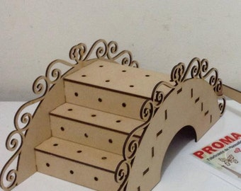 Lollipop stand, lollipop holder, made of wood, laser cut