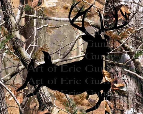 Deer Hunting Camo Birthday - Edible Cake and Cupcake Topper For Birthday's and Parties! - D22143