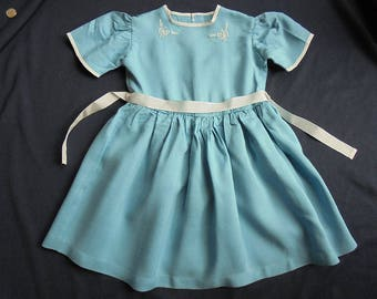 Vintage Girl's Dress - Home Made - 1950's