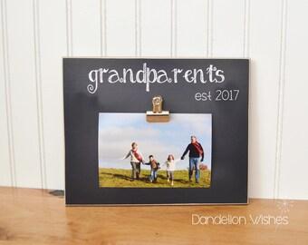 Custom Photo Frame, Personalized Grandparent Gift For Grandparents Day  {Grandparents est 2017}  Personalized Picture Frame, Grandchildren