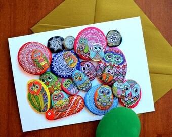 I Sassi dell'Adriatico - Greeting Card - Painted stones Mix -