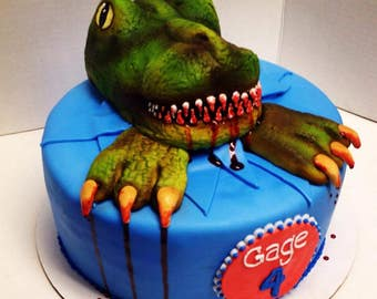 Edible T-Rex Cake topper