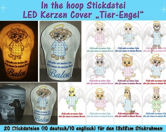 LED candle cover Animal angel-ith for the 13x18cm frame